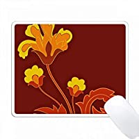 オレンジとイエローの現代花 PC Mouse Pad パソコン マウスパッド