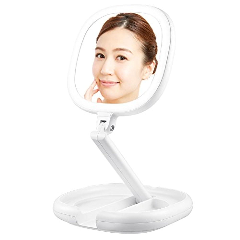 Lavany 拡大鏡 化粧鏡 両面鏡 ledライト付きミラー 卓上鏡 BM-1716