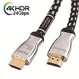 Toptrend 4K HDMI 2.0 ケーブル 24Gbps 1.8m 24k金めっき端子 28AWG銅導体 CL3防火レベル 4K/60Hz 3D UHD HDR ARC イーサネット対応 テレビ、HDTV、Xbox、Blue-ray プレイヤー、PS3、PS4、PC、Apple TV向け