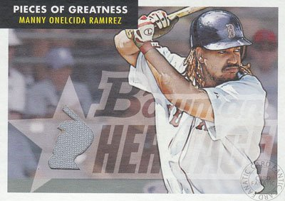 Manny Ramirez 2007 Topps Bowman Heritage Piece of The Greatness