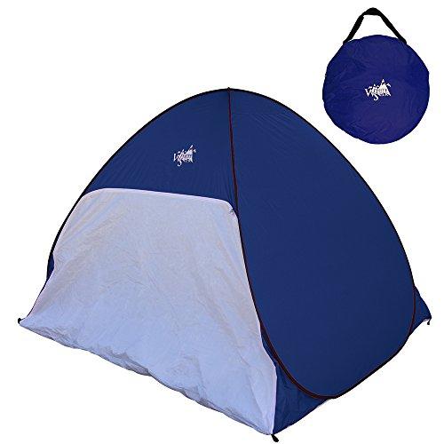 White Seek UVカット サンシェードテント 3~4人用テント キャリーバッグ付き UPF50+日除け ワンタッチで簡単! (ネイビー)