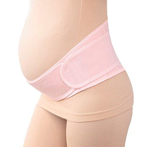 妊婦帯 腹帯 ダブルベルトで体にフィットシリーズ 産前産後に使う骨盤ベルト 恥骨や腰の負担をしっかりサポート フリーサイズ (ベージュ)