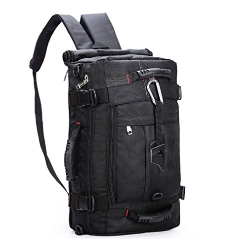 多機能 3way リュック ショルダー バッグ 防水 機能 付 ブラック 黒 収納 アウトドア キャンプ 登山 ハイキング 旅行 ビジネス