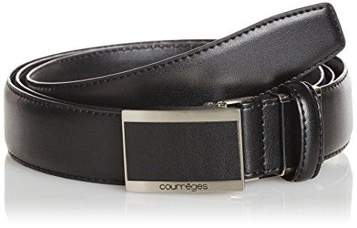 (クレージュ)courreges 本革ビジネスベルト バックルタイプ メンズ フリーサイズ ウエスト120cm対応 CU-BB010NT CU-BB010NT 001BK クロ FREE