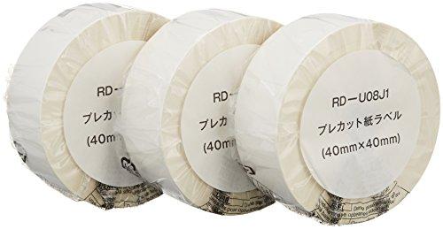 プレカット紙ラベル TD-2130N/2130NSA用 3ロール入り brother (ブラザー工業) ブラザー工業 RD-U08J1