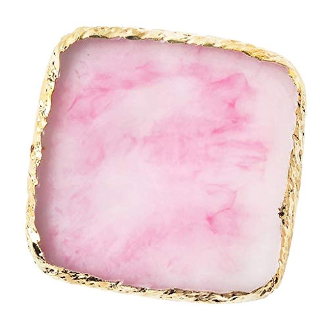 書店洗う牛IPOTCH ネイルアート カラーブレンド ミキシングパレット 樹脂製 6色選べ - ピンク