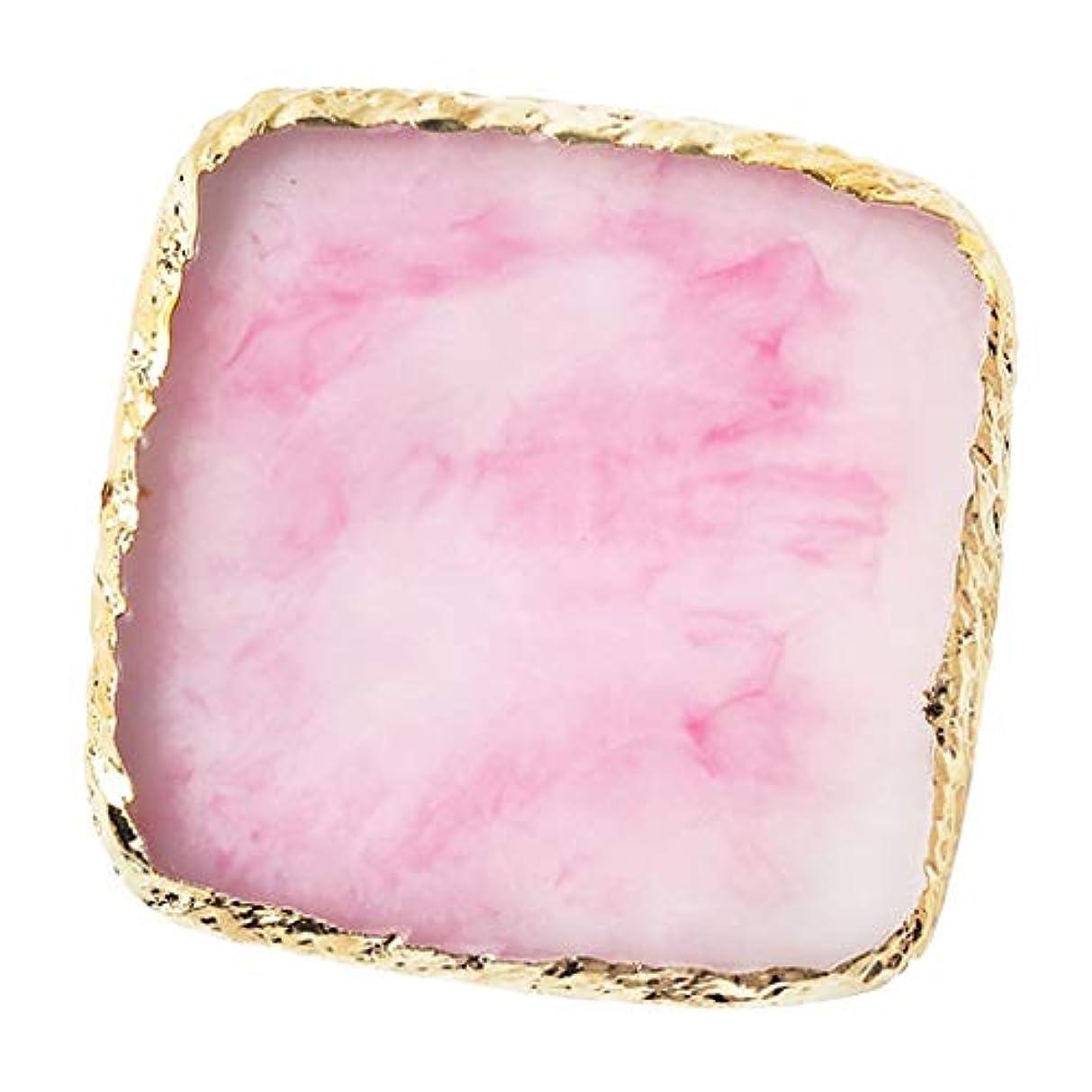 国家特権迷惑IPOTCH ネイルアート カラーブレンド ミキシングパレット 樹脂製 6色選べ - ピンク