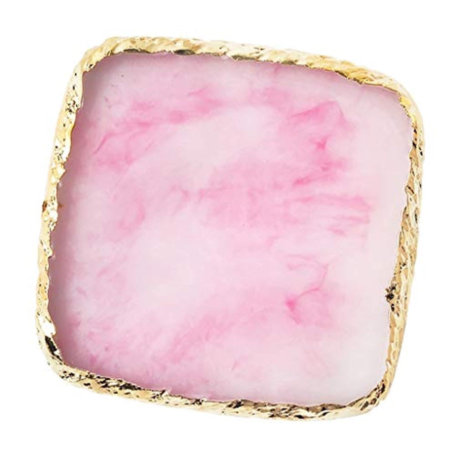 温度二週間チートIPOTCH ネイルアート カラーブレンド ミキシングパレット 樹脂製 6色選べ - ピンク