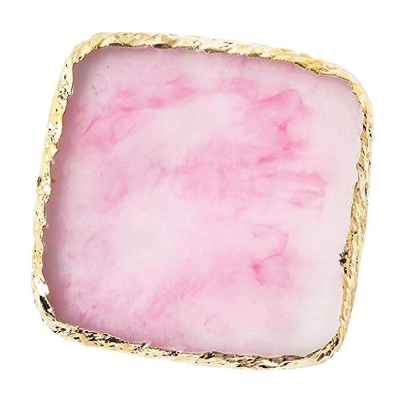 古代狂信者甘やかすIPOTCH ネイルアート カラーブレンド ミキシングパレット 樹脂製 6色選べ - ピンク
