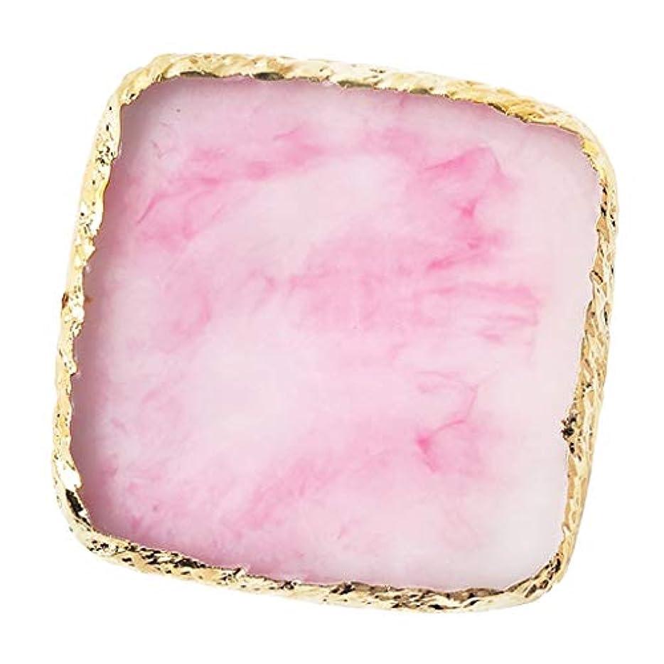 ピグマリオン熱心な汚すIPOTCH ネイルアート カラーブレンド ミキシングパレット 樹脂製 6色選べ - ピンク