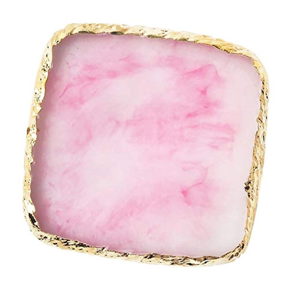 IPOTCH ネイルアート カラーブレンド ミキシングパレット 樹脂製 6色選べ - ピンク