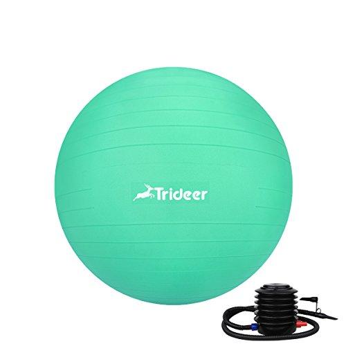 Trideer バランスボール(ミントグリーン, 55cm)