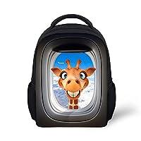 Anne考える漫画キリン小さなバックパックの子供幼稚園バックパックベビーミニ幼児のバッグ子供ブックバッグ Mochila学校用袋・バッグ