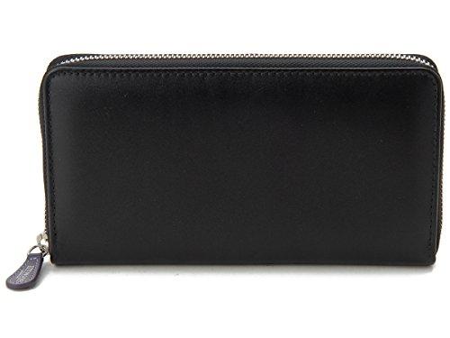 [エッティンガー]ETTINGER ラウンドファスナー長財布 ST2051EJR PURPLE ロイヤルコレクション ブラック メンズ
