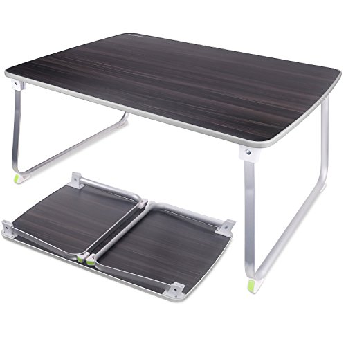 NEARPOW ローテーブル 折りたたみ 折れ脚 ローデスク アウトドアテーブル 70 * 50 * 32.5CM 座卓 ミニテーブル 多機能 コンパクト 軽量 食事 勉強 ピクニック キャンプ 用 (ブラック)