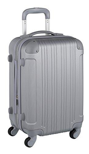 スーツケース キャリーケース キャリーバッグ 安心1年保証 機内持ち込み 可 ファスナー 傷が目立ちにくい SS サイズ 1日 2日 3日 TSAロック ハードキャリー 拡張 ジッパー 女子旅 全サイズ 有り 5082-48 シルバー