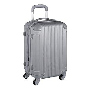 スーツケース キャリーケース キャリーバッグ 安心1年保証 ファスナー L サイズ 長期滞在 拡張 7日 8日 9日 10日 11日 12日 13日 14日 TSAロック ハードキャリー 大型 ジッパー かわいい 全サイズ 有り 5082-70 シルバー