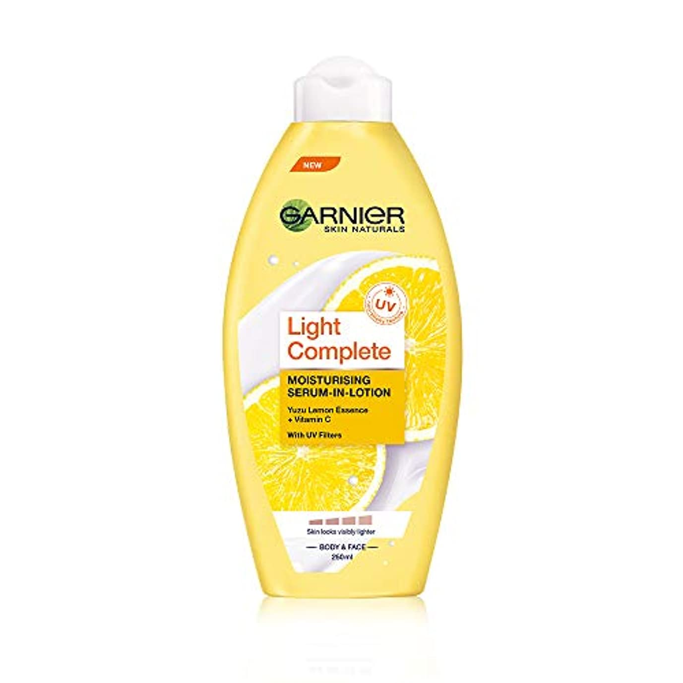 正規化削除する軽量Garnier Skin Naturals Light Lotion, 250ml