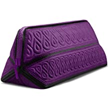 (Purple) - Makeup Bag cute Cosmetic toiletry Travel case Fits Longest Makeup Brushes, Water-repellent Premium Quality Super Soft Easy to Fold Portable Design Origami Style By MetricUSA