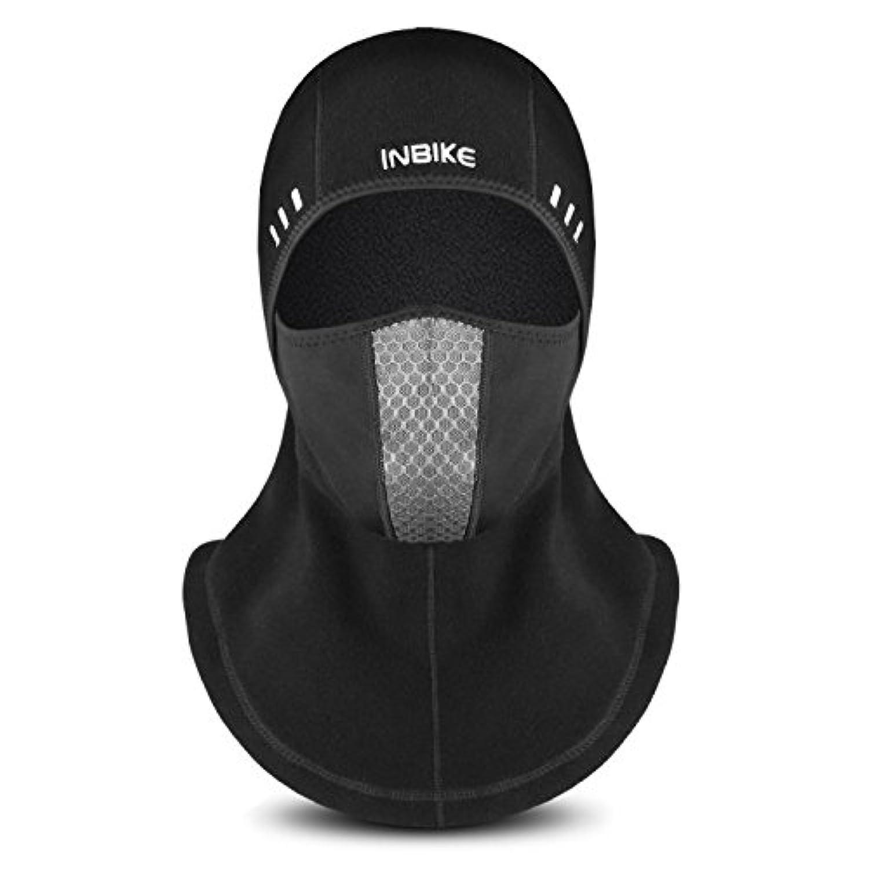 INBIKE(インバイク)マスク 防寒フリースマスク 裏起毛 厚型 ネックウォーマー フェイスガード