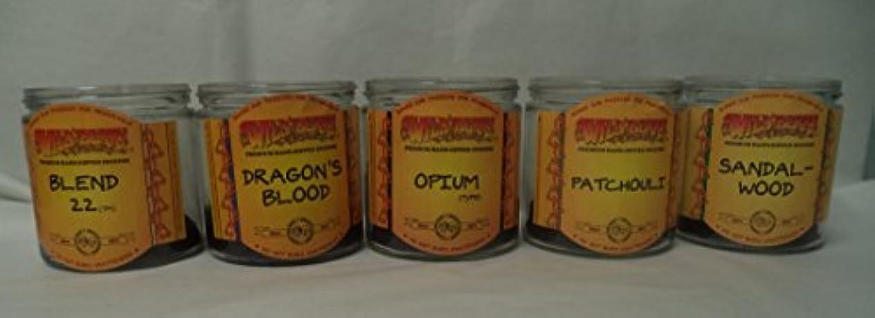 後世ストッキングインタフェースWildberry Incense円錐Best Sellerセット# 2 : 20 Sticks各5の香り、合計100 Cones 。