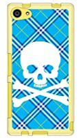 SECOND SKIN スカルパンク ブルー (ソフトTPUクリア) / for Xperia Z5 Compact SO-02H/docomo  DSO02H-TPCL-701-J096