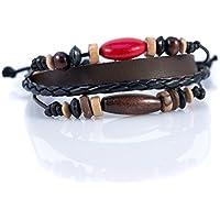 Moneta Jewelry Handmade Tribal Artisan Craft Multi Strand Bracelet Genuine Leather Fashion Accessory