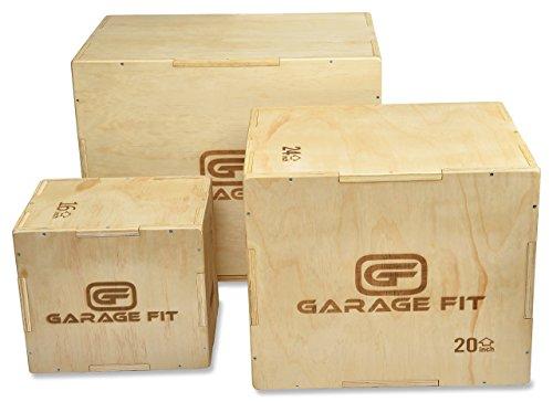 Garage Fit 木製プライオボックス30/24/20・24/20/16・16/14/123イン1ライオボックス Plyo-Box プライオメトリックボックス プライオメトリックジャンプボックス Plyometric Jump Boxes ボックスジャンプ用箱 Plyoジャンプボックス 12/14/16