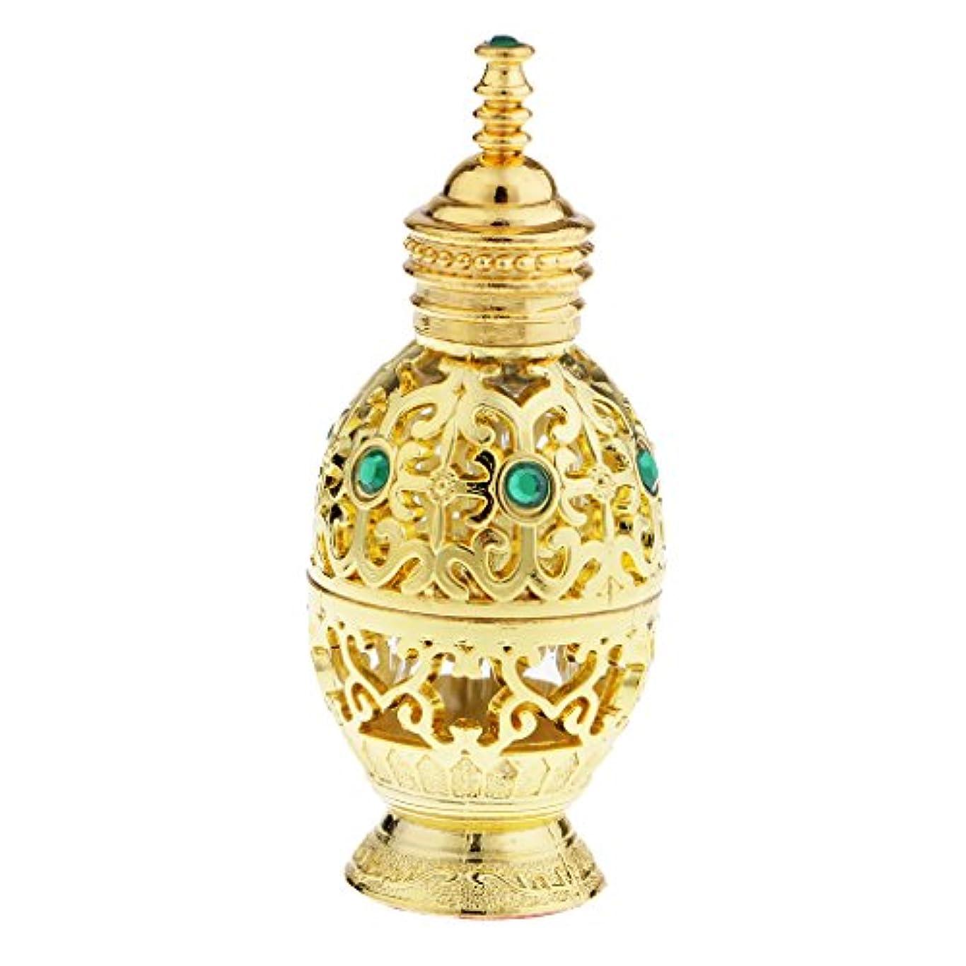 酸化する単調なエイリアンFlameer 10ml ヴィンテージ 香水ボトル 中東スタイル 香水瓶 ゴールド エッセンシャルオイルボトル 精油ボトル