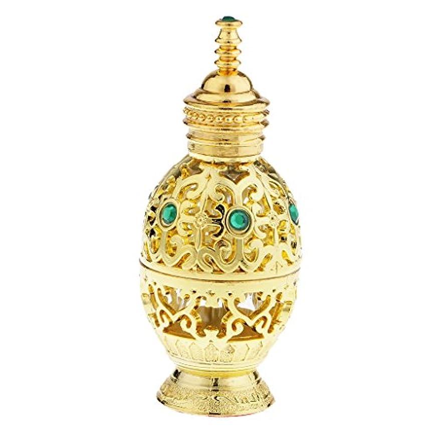 なかなか部屋を掃除する世界の窓10ml ヴィンテージ 香水ボトル 中東スタイル 香水瓶 ゴールド エッセンシャルオイルボトル 精油ボトル