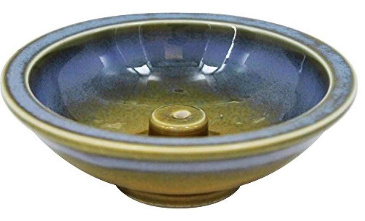 練習した電卓観察するShoyeido's Azure Round Ceramic Incense Holder by SHOYEIDO