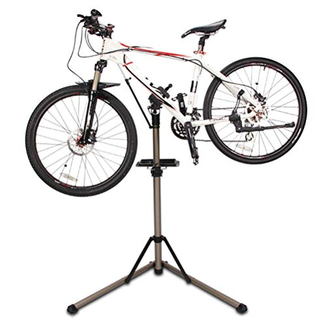 ダーリンミッション温室自転車修理駐車ラック、アルミ合金調整可能な自転車収納ラックディスプレイスタンドガレージ駐車マウンテン自転車修理用
