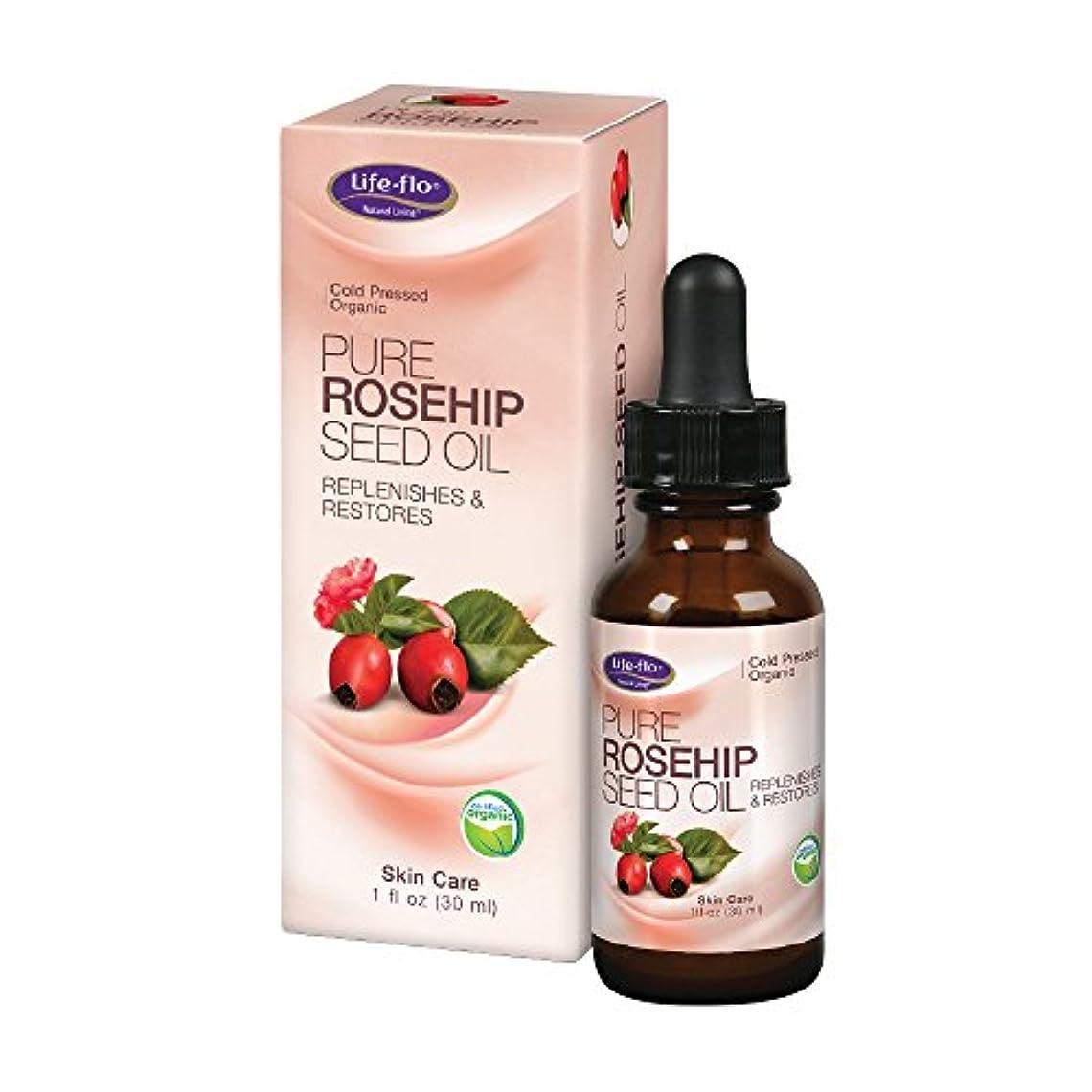 望み発信オープニング海外直送品 Life-Flo Pure Rosehip Seed Oil, 1 oz