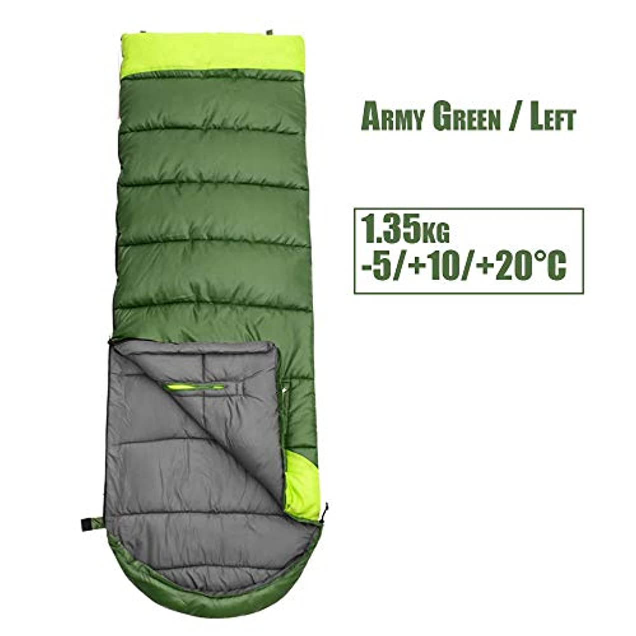 シリーズフレームワークキャップLIUSIYU封筒寝袋、長方形の寝袋、2シーズン、コンパクトで耐水性の暖かい充填、快適な暖かい睡眠のための屋外キャンプ