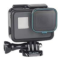 Kiowon GoPro hero7/6/5用 レンズフィルター CPL偏光フィルター カメラ保護フィルター 光学ガラス 航空アルミフレーム goproアクセサリー(CPL)