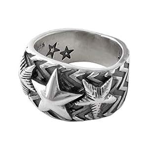 [コディー サンダーソン] CODY SANDERSON Wave gear 3 star ring ウェーブギア スリースター リング 指輪 シルバー 【並行輸入品】 C2-01-009-8 日本サイズ16号 (USサイズ8号)