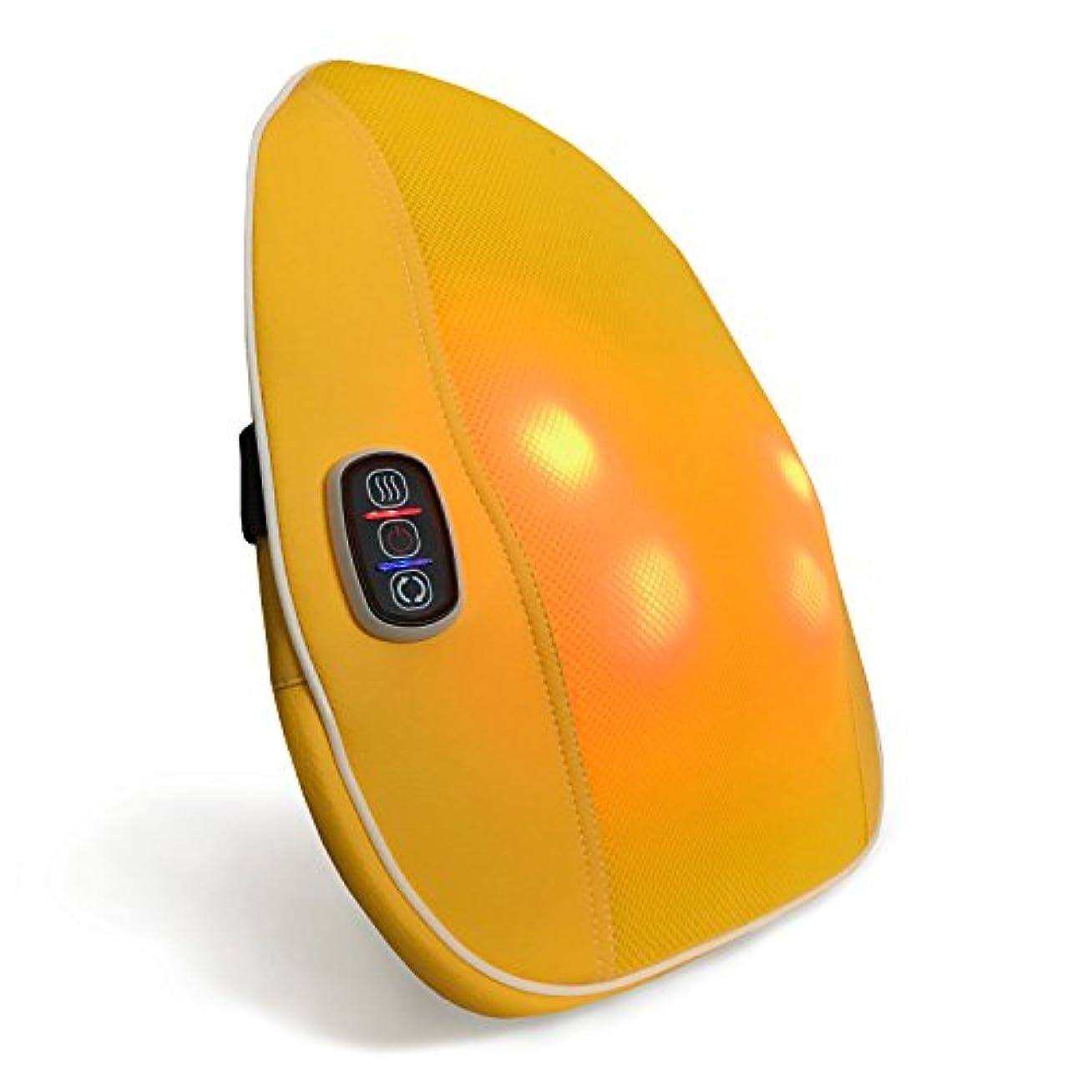 銛熱心ピットクロシオ スマートマッサージャー パプリカ イエロー 幅40cm 厚み9cm もみ玉式マッサージ器 薄型 簡単操作 マッサージクッション