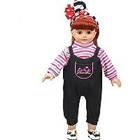 Shero 14 – 16インチベビー人形の服デニムスーツ(ピンク)