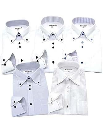 BS-shirt(ビジネスマンサポートシャツ) 長袖ワイシャツ5枚セット 豊富な7サイズ ba 001-S