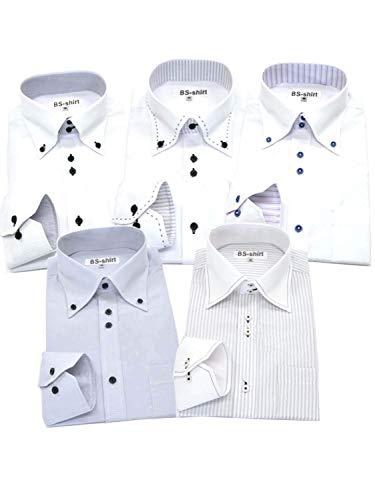 BS-shirt(ビジネスマンサポートシャツ) 長袖ワイシャツ5枚セット 豊富な7サイズ