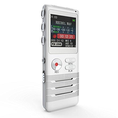 ボイスレコーダー 8G Vodool ICレコーダー MP3プレーヤ USBメモリ 録音機 長時間録音 小型 高音質 USB機能付 (1年保証&日本語説明書付き)