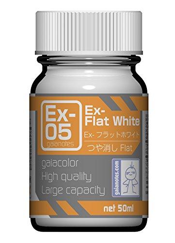 ガイアノーツ Exシリーズ Ex-05 Ex-フラットホワイト 50ml 模型用塗料 30015
