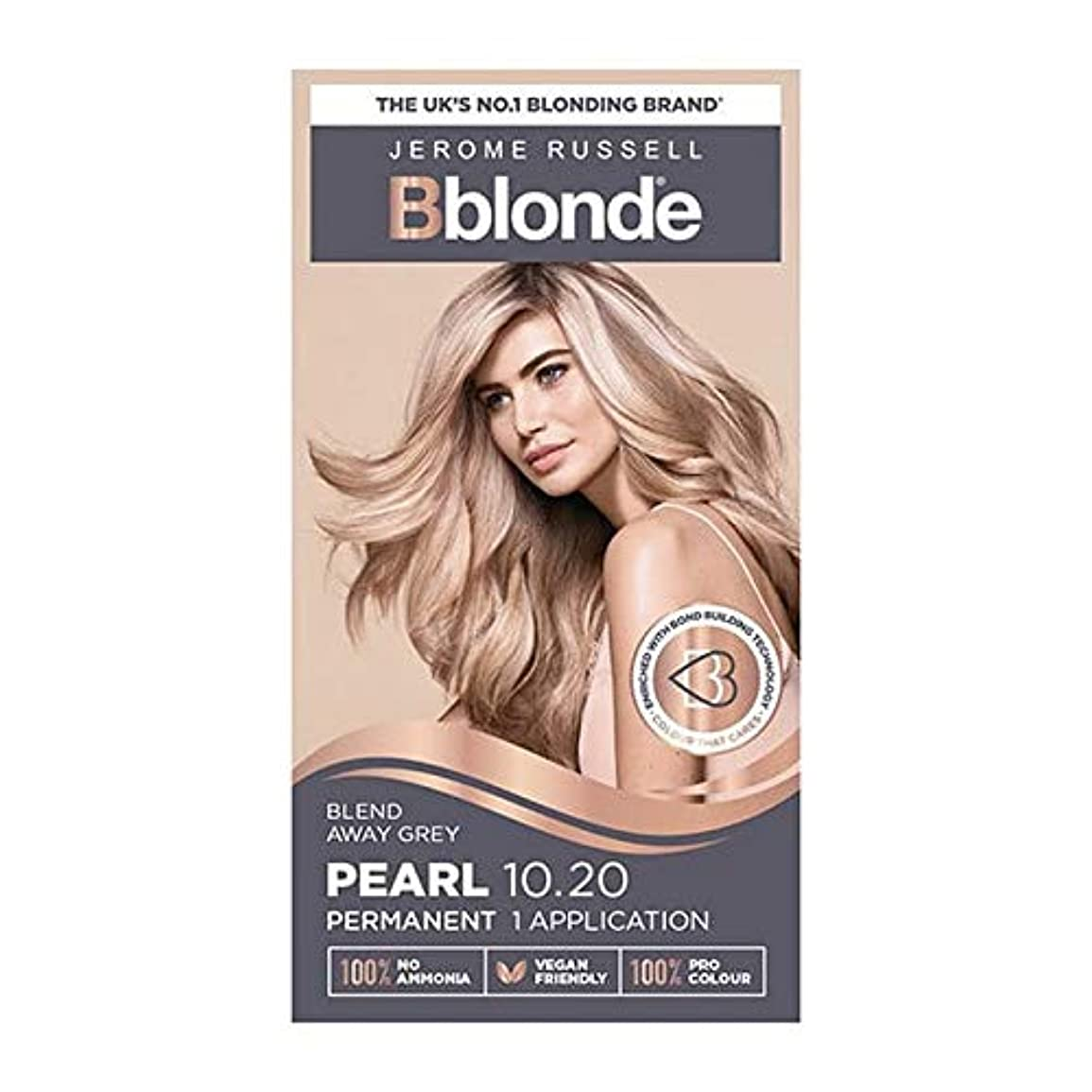 人気の面白い不条理[Jerome Russell ] ジェロームラッセルBblondeパーマネントヘアキット真珠10.2ブロンド - Jerome Russell Bblonde Permanent Hair Kit Pearl Blonde...