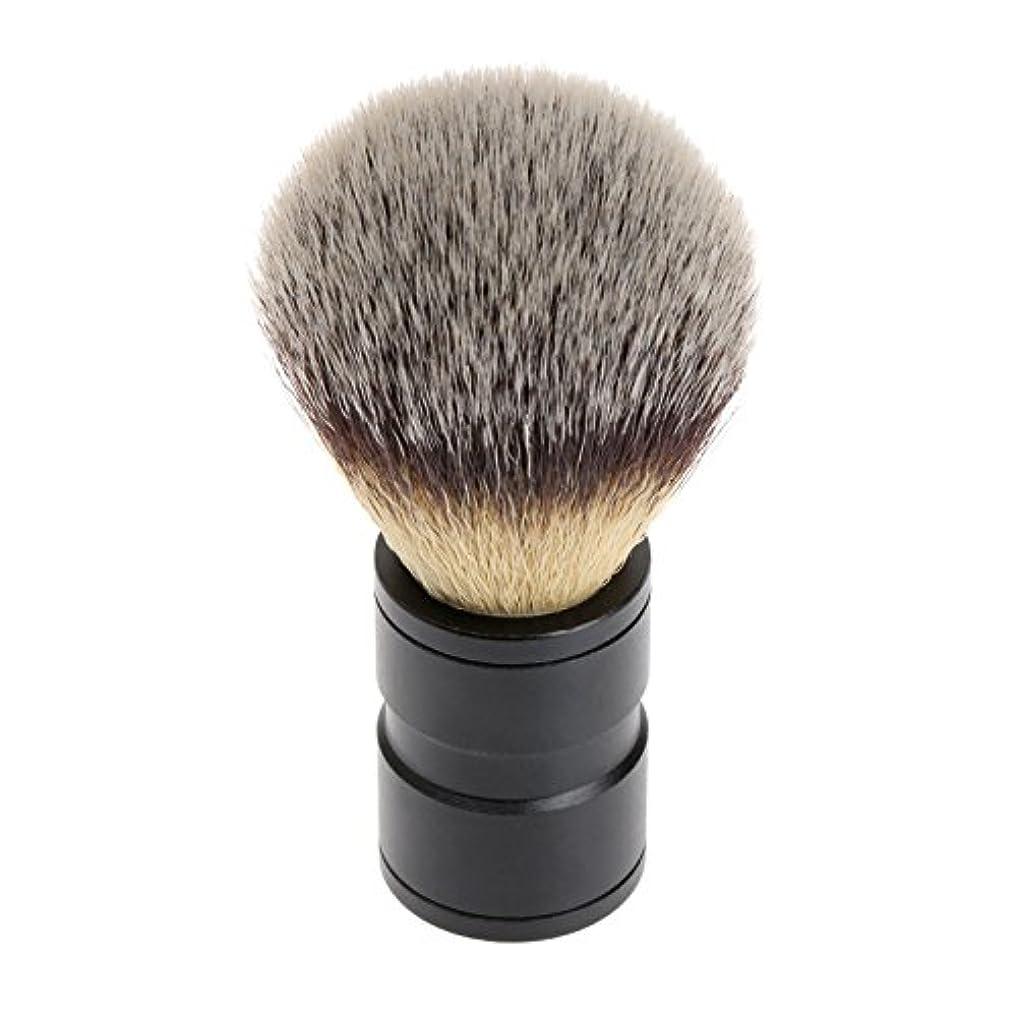 嘆く谷ストレスの多いシェービング ブラシ 理容 洗顔 髭剃り マッサージ 効果 ナイロン毛 メンズ