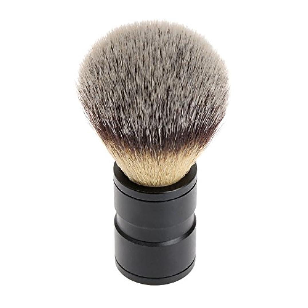 事実上哺乳類権利を与えるシェービング ブラシ 理容 洗顔 髭剃り マッサージ 効果 ナイロン毛 メンズ