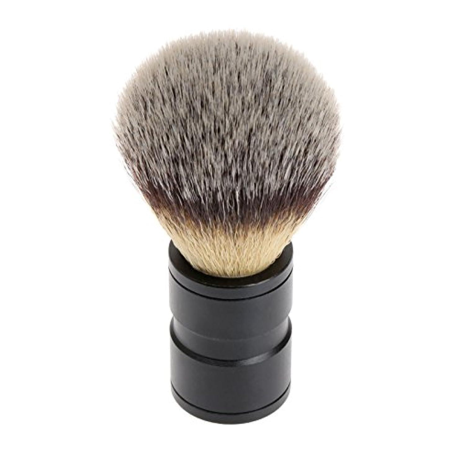 地殻真実の間でシェービング ブラシ 理容 洗顔 髭剃り マッサージ 効果 ナイロン毛 メンズ