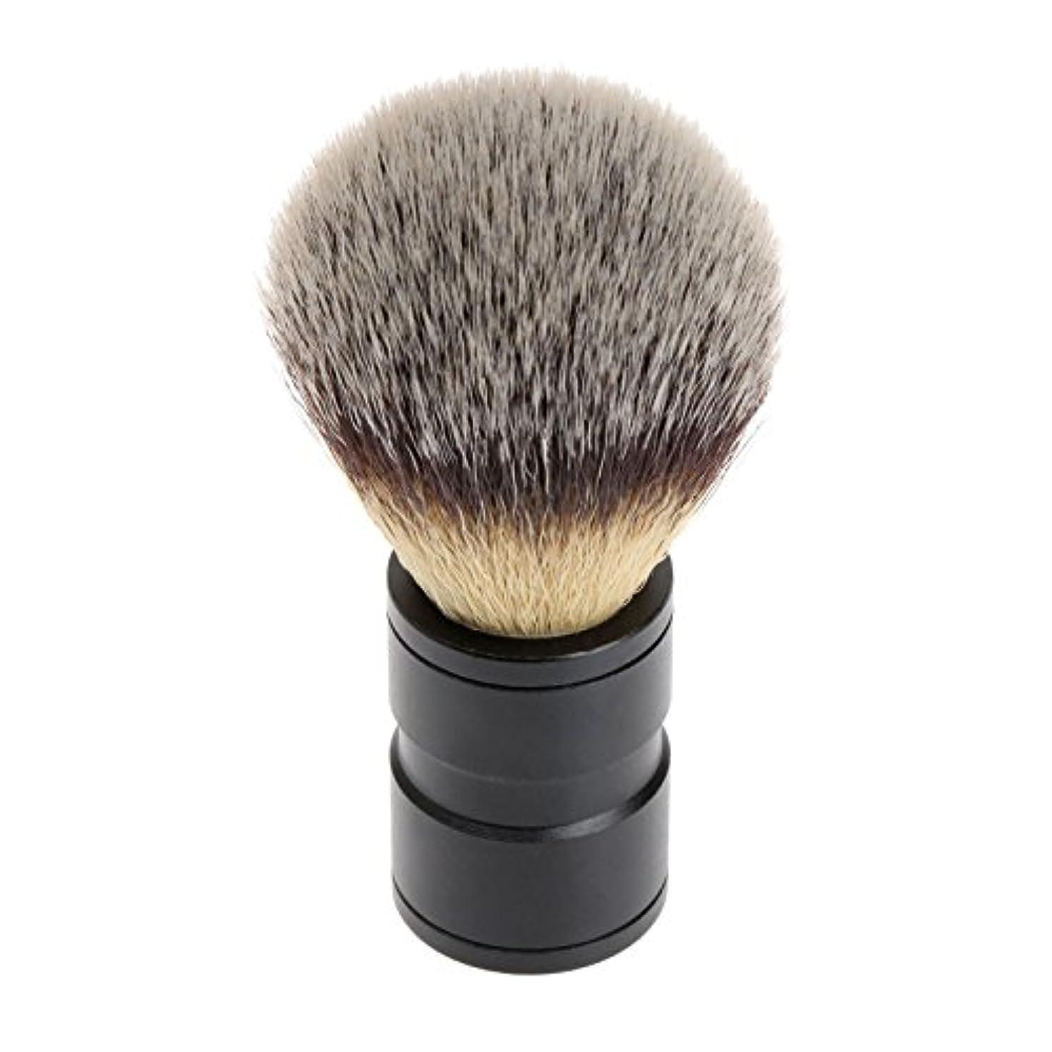 解くうめき矢シェービング ブラシ 理容 洗顔 髭剃り マッサージ 効果 ナイロン毛 メンズ