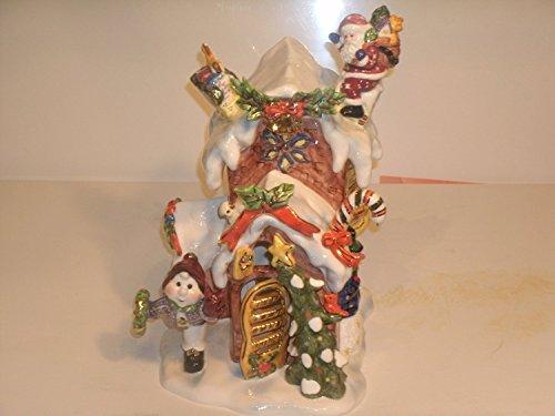 Grandeur Noel U5001 Santa Drops Off Presents Christmas House【クリスマス】【オーナメント】 [並行輸入品]