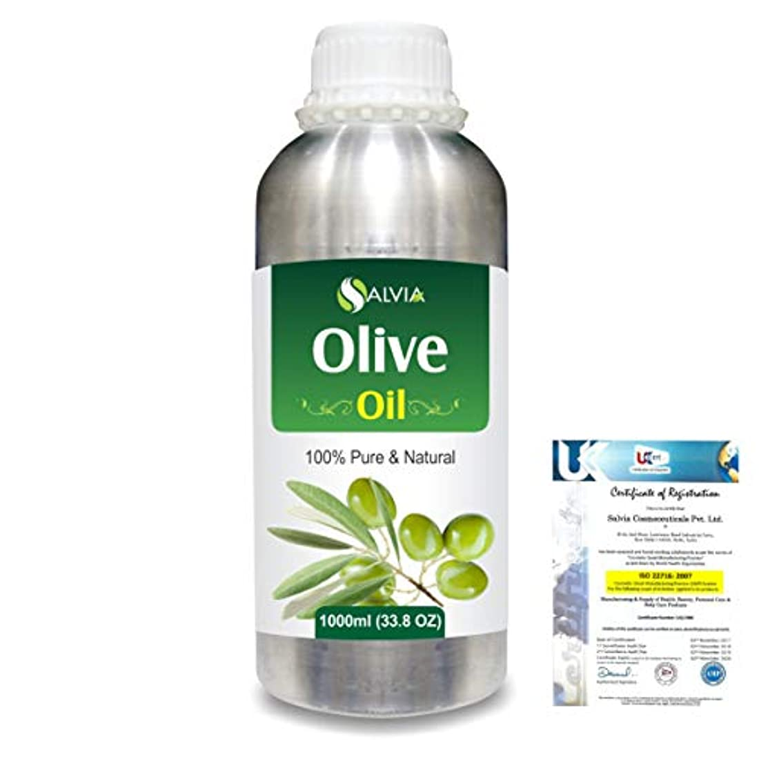 電話をかけるラリーベルモント酒Olive (Olea europea) Natural Pure Undiluted Uncut Carrier Oil 1000ml/33.8 fl.oz.