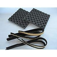送料無料 2枚セット スピーカー背面吸音材 VHZ プロファイル加工 粘着付 20mm厚 20×195×195mm デッドニング